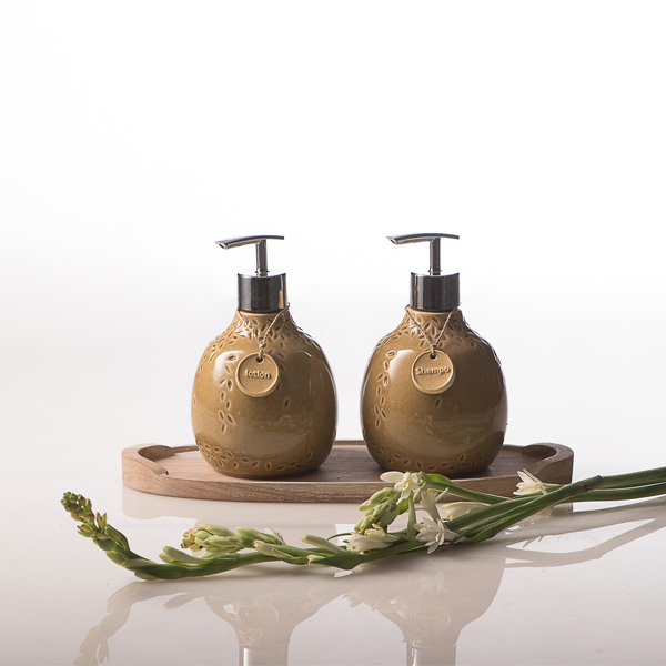 Beras Wutah Bathroom hotel amenities Bali Stonish Yellow