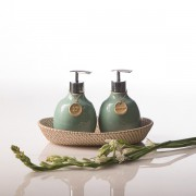 Beras Wutah Bathroom hotel amenities Bali Celadone-Green