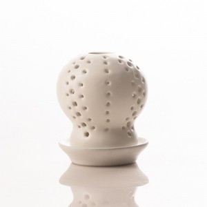 Coral Candle Holder White