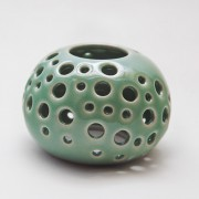 Gravel Candle Holder Celadone