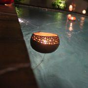 Floating Gravel Candle Holder