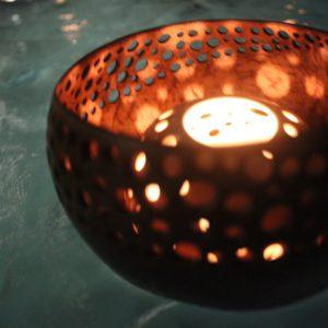 Floating Gravel Candle Holder,hospitality decoration Bali