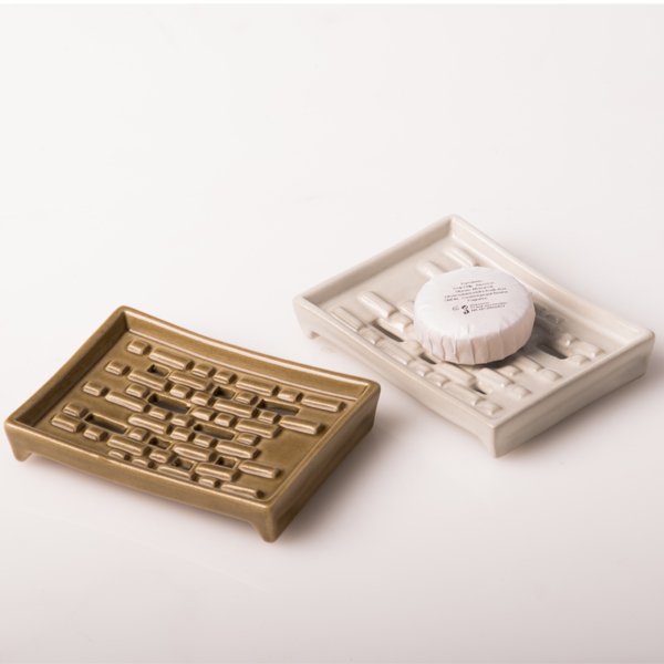 brick soapdish, bathroom amenities, bathroom design
