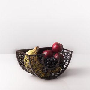 kawung fruitbowl iron,living room design,interior decoration