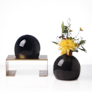 pearl vase medium black,living room decoration