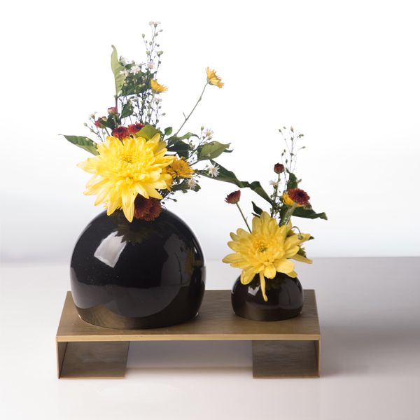 pearl vase medium with stand,living room decoration