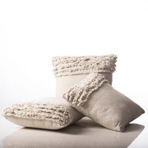 Stone Cushion Spa Design White